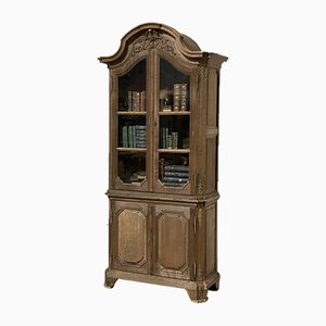 Early 19th Century French Bleached Oak Deux Corps Bookcase
