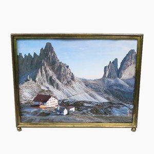 Large Bauhaus Minimalist Brass Picture Frame