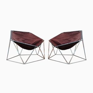 Penta Chairs by Jean-Paul Barray for Bofinger, Set of 2