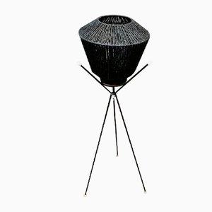 Black Tripod Floor Lamp, 1950s