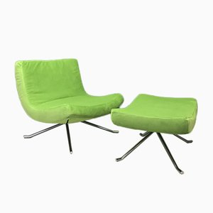Pop Chair and Ottoman by Christian Werner for Ligne Roset, Set of 2