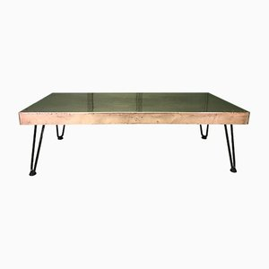 Rectangular Hammered Copper Coffee Table
