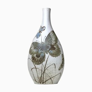 Ceramic Vase with Butterflies by Nils Thorsson for Royal Copenhagen, 1970s