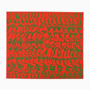 Carla Accardi, Red and Green, 1986, 7-Color Silkscreen on Cardboard