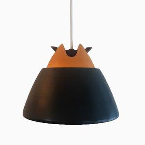 Black and Yellow Ceramic Pendant Lamp by Cari Zalloni for Steuler-Keramik, Germany, 1960s