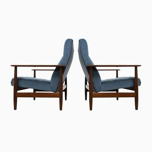 Vintage Teak Lounge Chairs, 1960s Set of 2