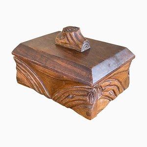 Art Nouveau Wooden Box, France, 1920s