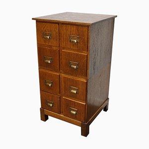 Vintage German Oak Apothecary Cabinet, 1940s