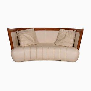 DS 146 Cream Leather Sofa from De Sede