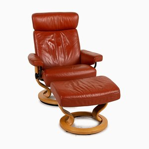 Pegasus Red Leather Armchair from Stressless