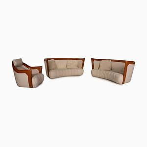 DS 146 Leather Sofa Set from De Sede, Set of 3