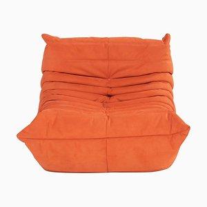 Togo Cadmium Orange Lounge Chair by Michel Ducaroy for Ligne Roset