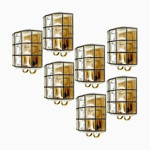 Iron and Bubble Glass Sconce from Limburg, Germany, 1960s