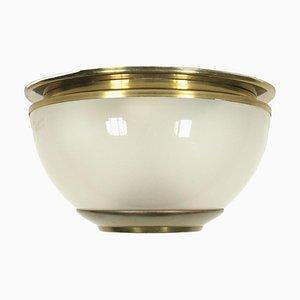 Brass and Glass Lamp by Luigi Caccia Dominioni for Azucena, 1960s