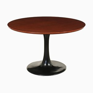 Teak Veneer and Plastic Table, Italy, 1970s