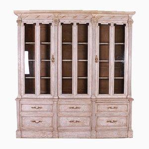 Antique Glazed Flemish Bookcase