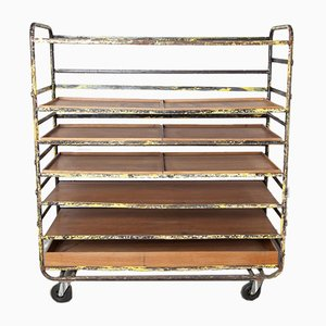 Bread Cart with Wooden Trays