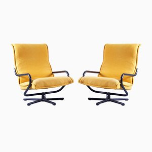 Danish Cantilever Swivel Chairs, Set of 2