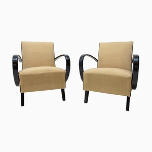 Bentwood Armchairs by Jindrich Halabala for UP Závody, 1950s, Set of 2