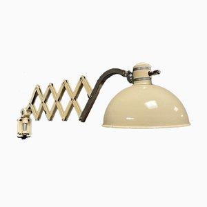 Cream Scissor Lamp from Werner Schröder
