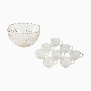 Crystal Punch Cups, 1950s, Set of 9