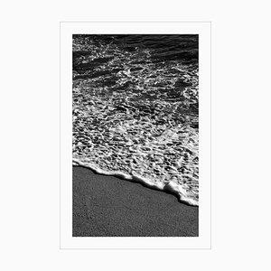 Vertical Morning Seashore, Large Black and White Seascape Giclée, Sugimoto Style, 2021