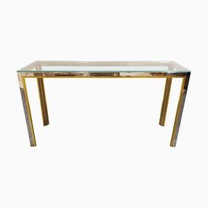 Brass Console Table by Renato Zevi, 1970s