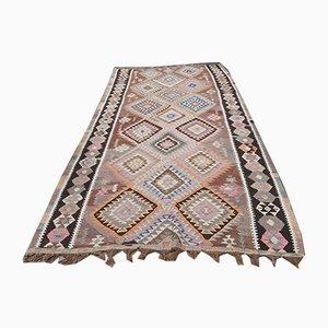 Vintage Turkish Kilim Oushak Handmade Wool Rug