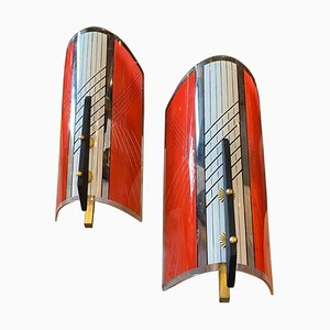 Mid-Century Modern Wall Sconces by Gilardi & Barzaghi, 1960s, Set of 2