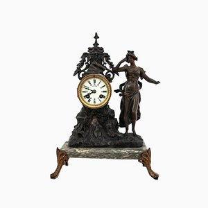 Antique Fireplace Clock, France, 1900s