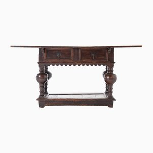 17th Century Flemish Oak Side Table