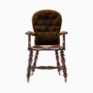 19th Century English Mahogany Armchair
