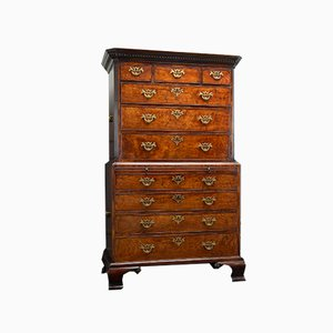 Early 18th Century English Mahogany Chest on Chest