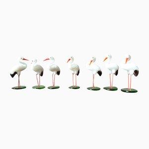 Storks in Glass Paste, Set of 7