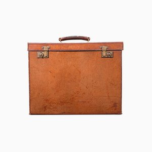 Antique English Record Producers Attache Briefcase in Leather, 1920