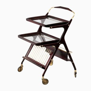 Italian Bar Trolley by Cesare Lacca, Italy, 1950s