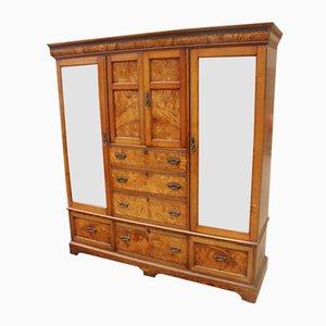 Burr Oak Compactum Wardrobe, 1900s
