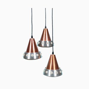 Mid-Century Hanging Lamp from Lakro, Holland, 1960s