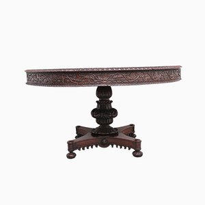 19th Century Anglo-Indian Carved Centre Table, Set of 2