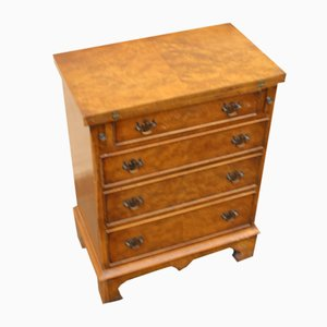 Walnut Bachelor Chest of Drawers, 1940s