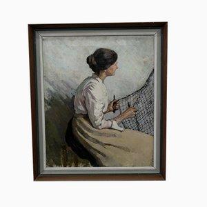 Antique Female Portrait, 1905, Oil on Canvas