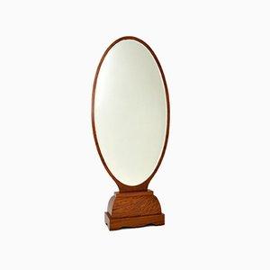French Art Deco Free Standing Mirror in Walnut