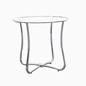 Bauhaus Coffee Table with Glass Top and Tubular Frame, 1960s