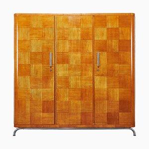 Art Deco Functionalist 3-Door Wardrobe by Robert Slezak, 1930s
