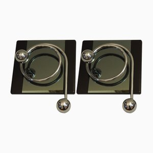Coat Hooks by Willy Rizzo, Set of 2