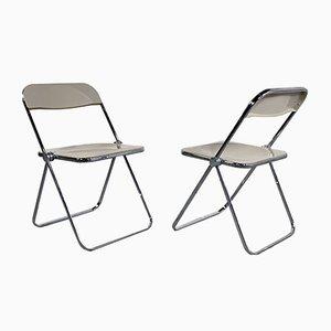 Beige Plia Folding Chair by Giancarlo Piretti for Castelli / Anonima Castelli, 1960s