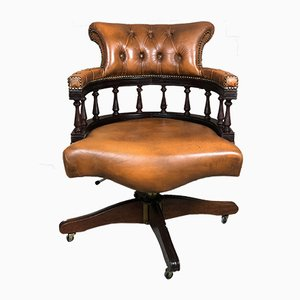 Desk Chair or Captain's Chair in Chesterfield Style from CS Mobelfabrik
