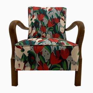 Art Deco Armchair with Tulips