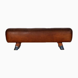 Leather Pommel Horse or Bench, 1930s