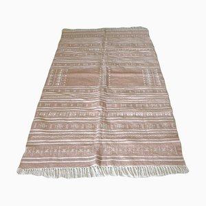 Vintage Berber Pink Kilim Rug